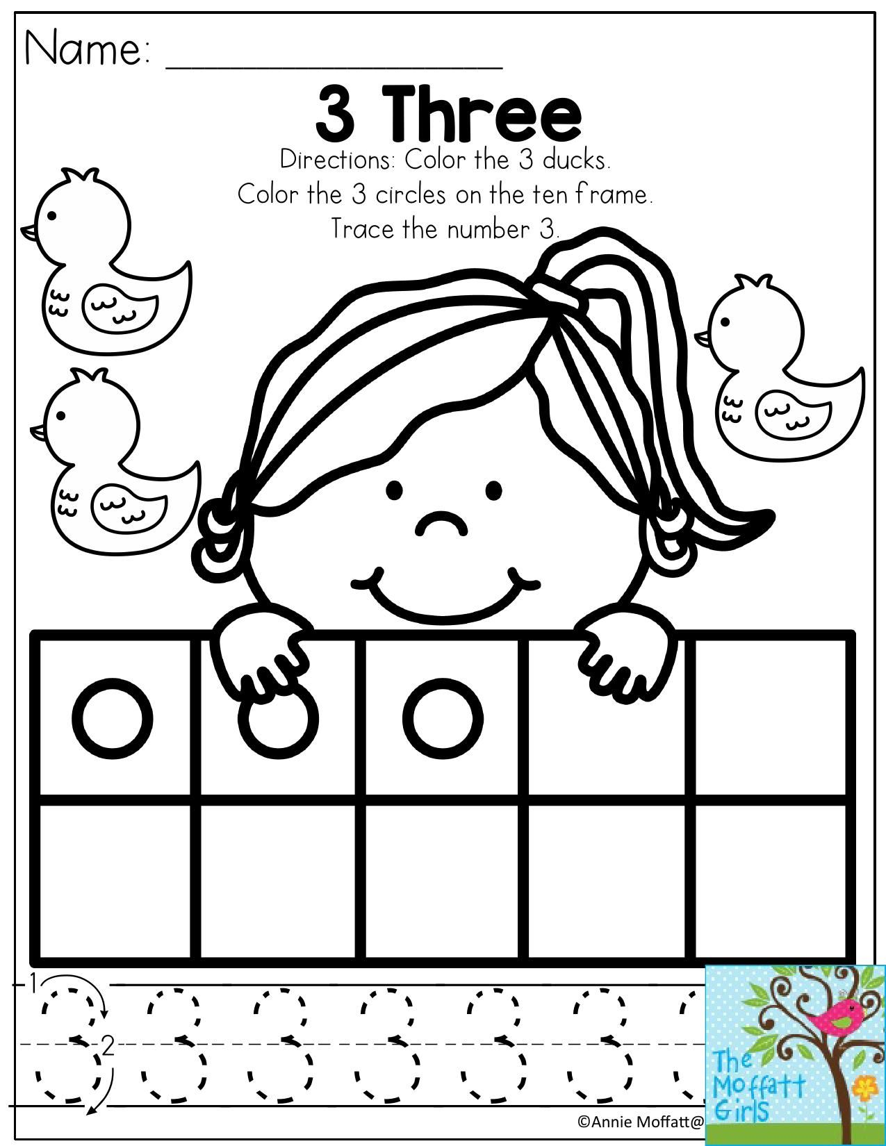 Worksheet Color By Number Duck Easy