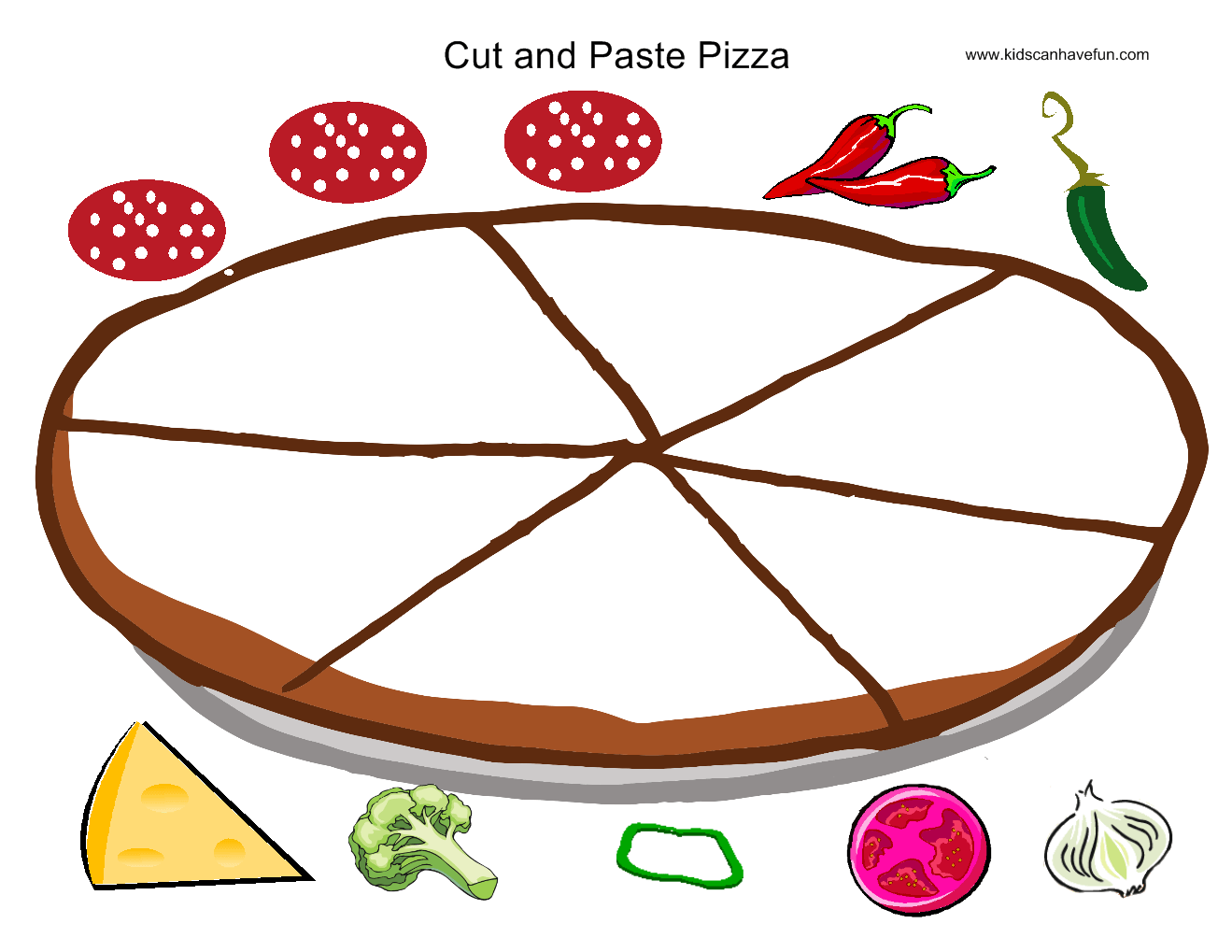 Cut And Paste Pizza Practice Cutting Skills