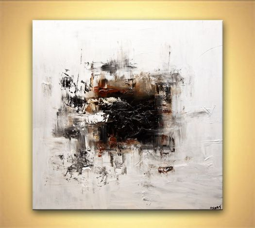 White Abstract Art Modern Painting Home Decor