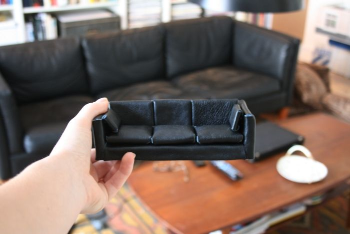 Diy Miniature Sofa Tutorial Tiny World Pinterest
