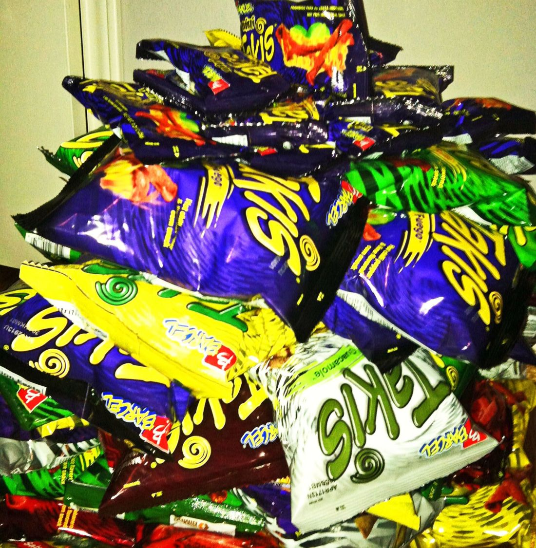All stocked up to end 2012 with a bang takis snacks