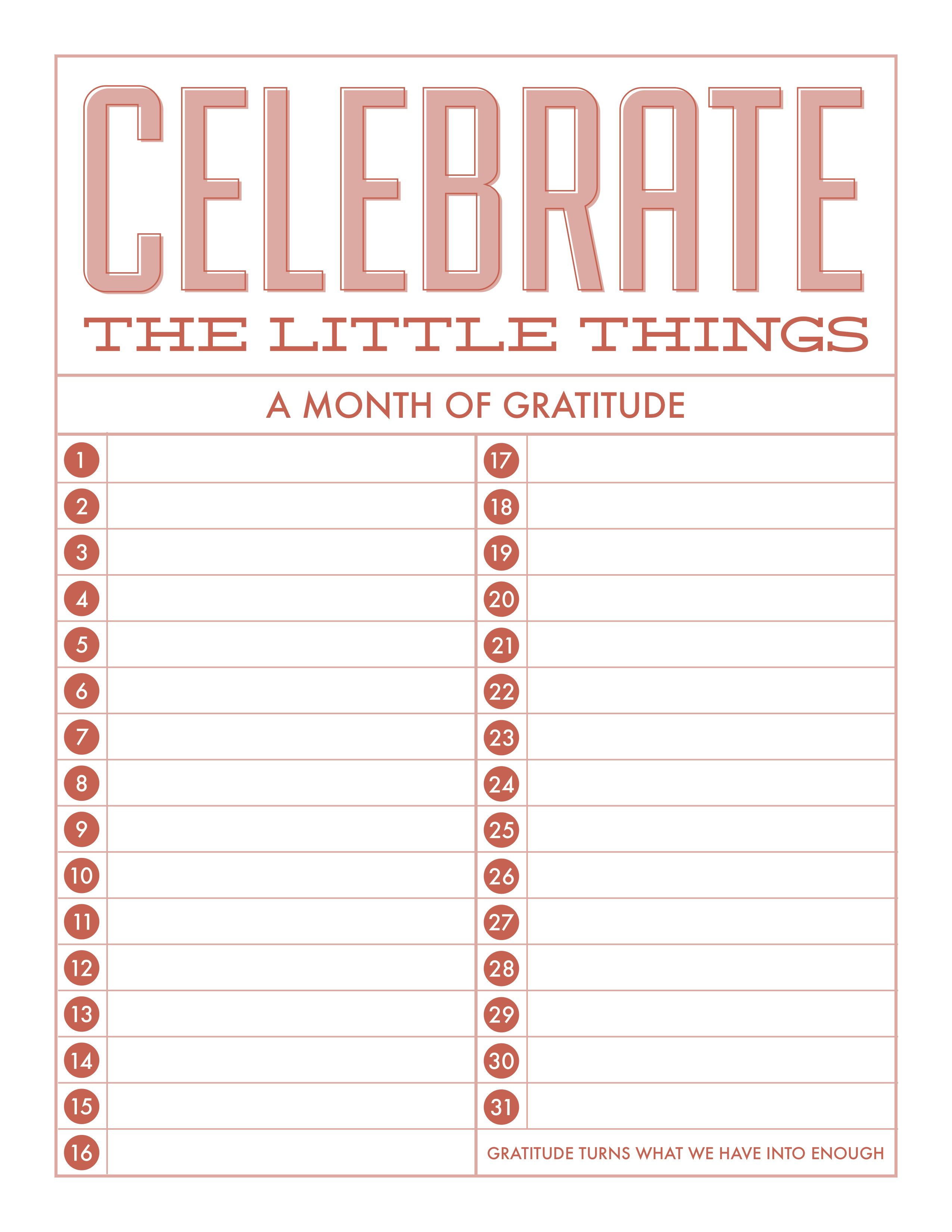Gratitude Worksheet Printable