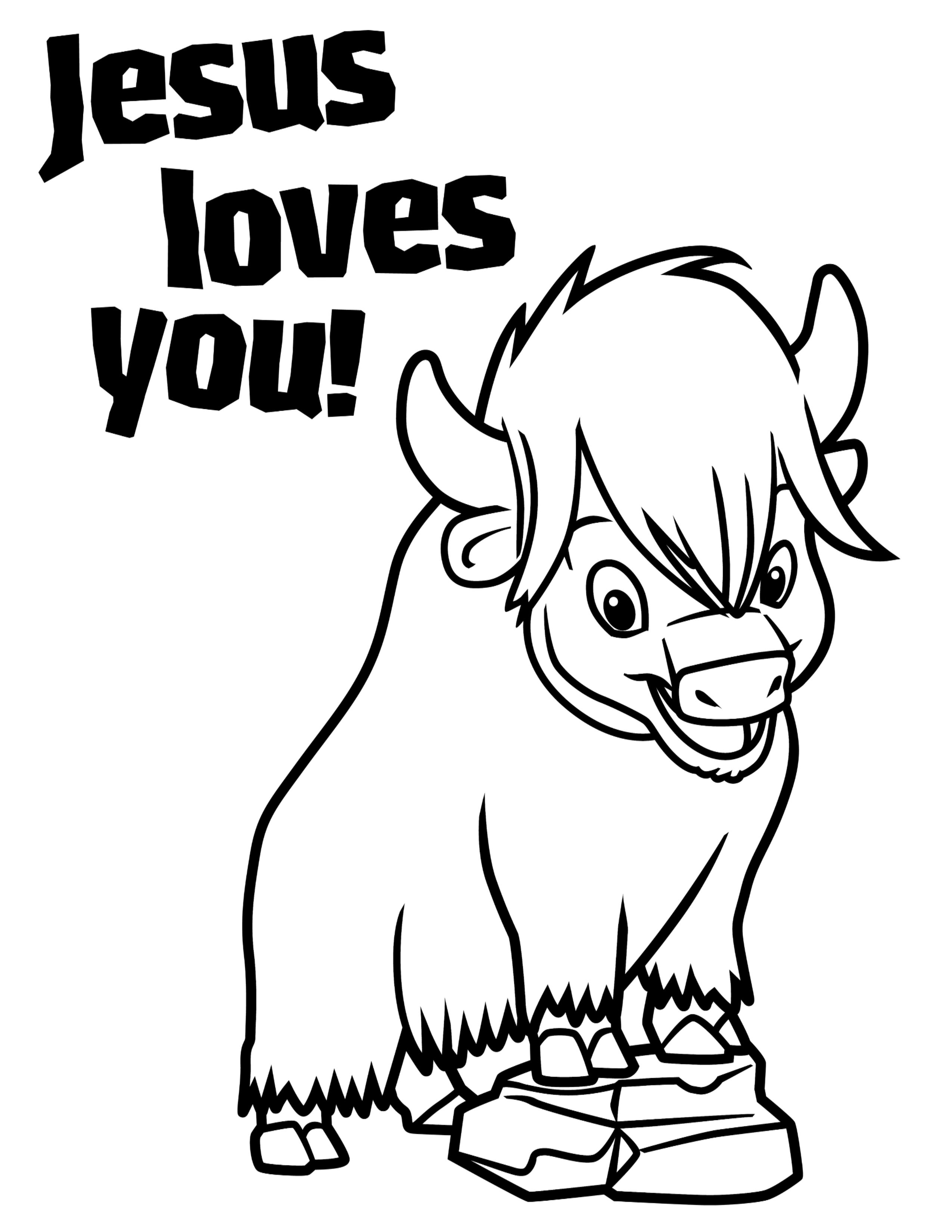 Preschool Coloring Page Jesus Loves You Zak Everest Vbs 2015
