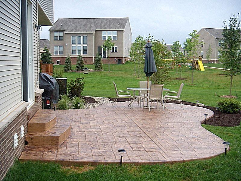 Simple stone patios | simple concrete patio Raised ... on Simple Concrete Patio Designs id=71388