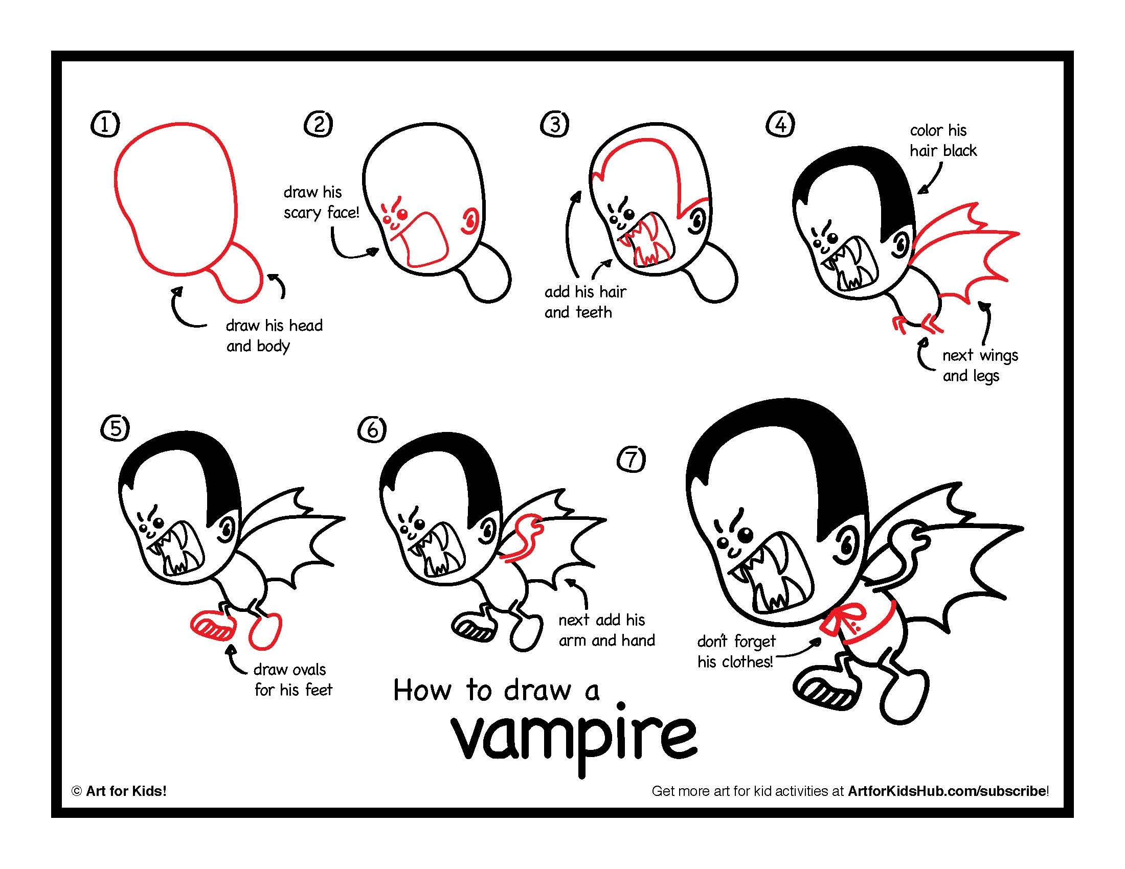 How To Draw A Vampire