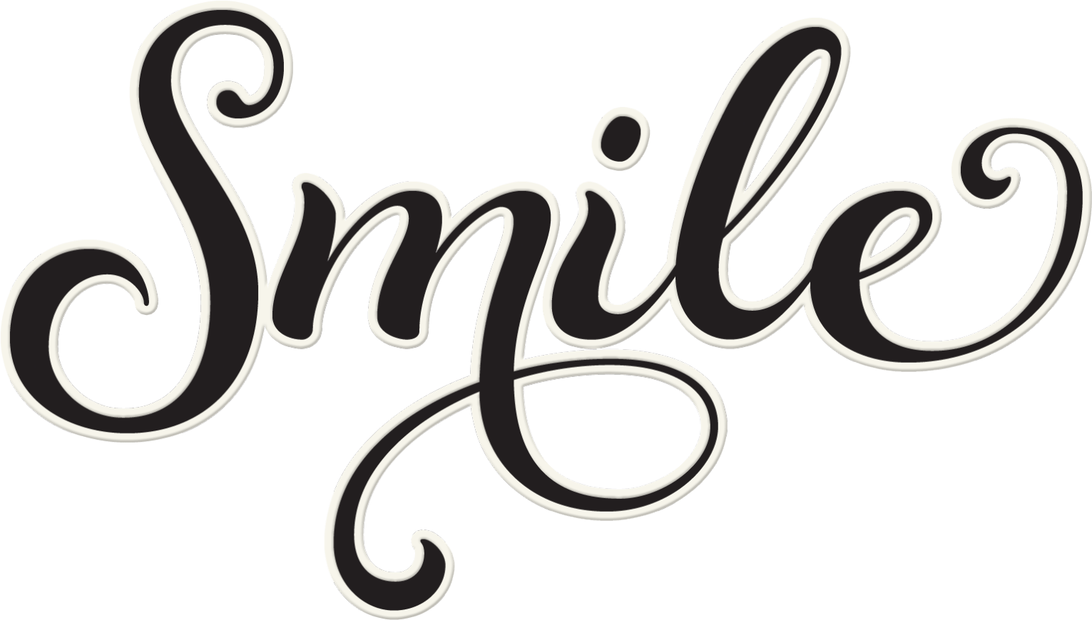 The Word Smile In Cursive