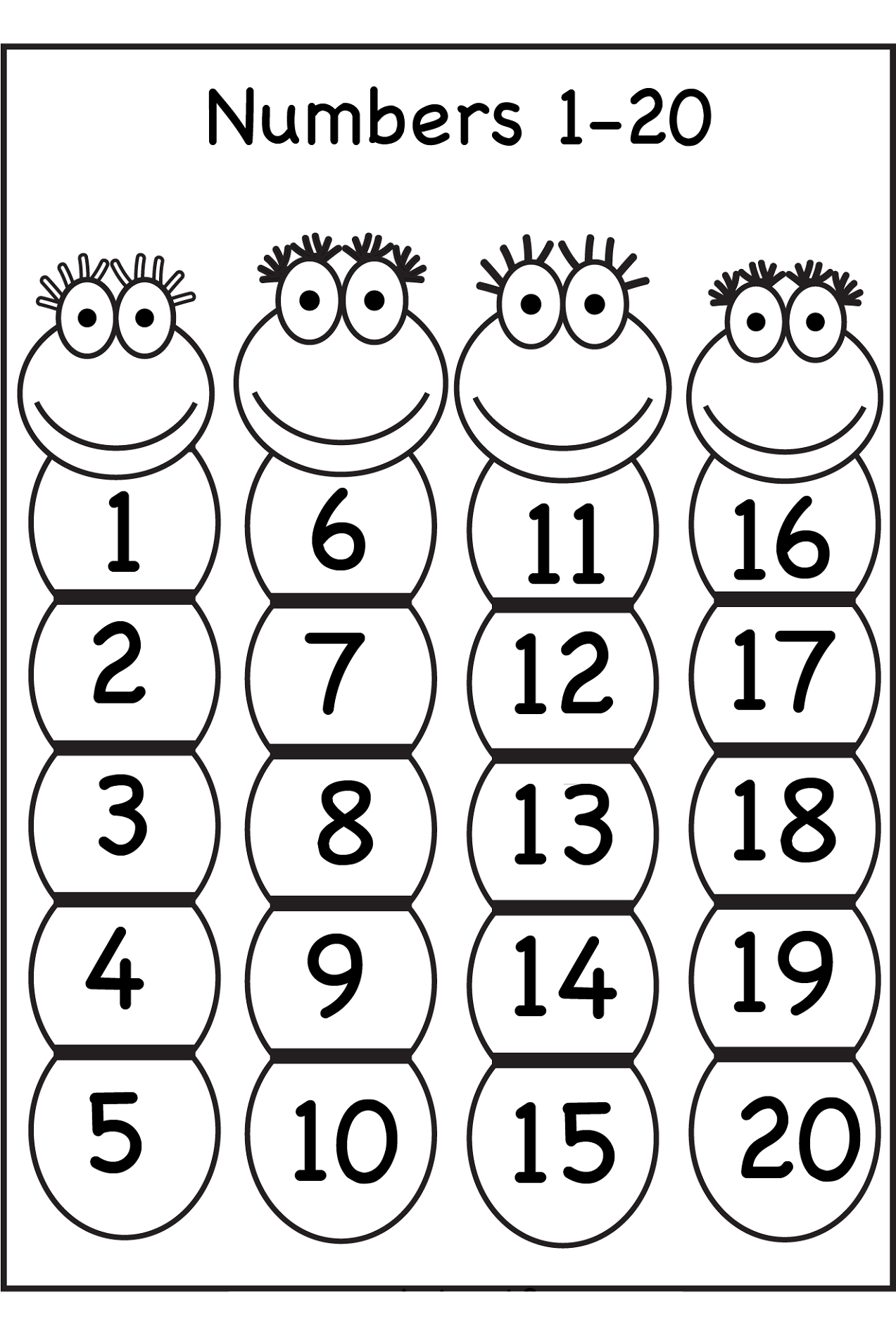 Worksheet Numbers 1 20 Worksheets Grass Fedjp Worksheet
