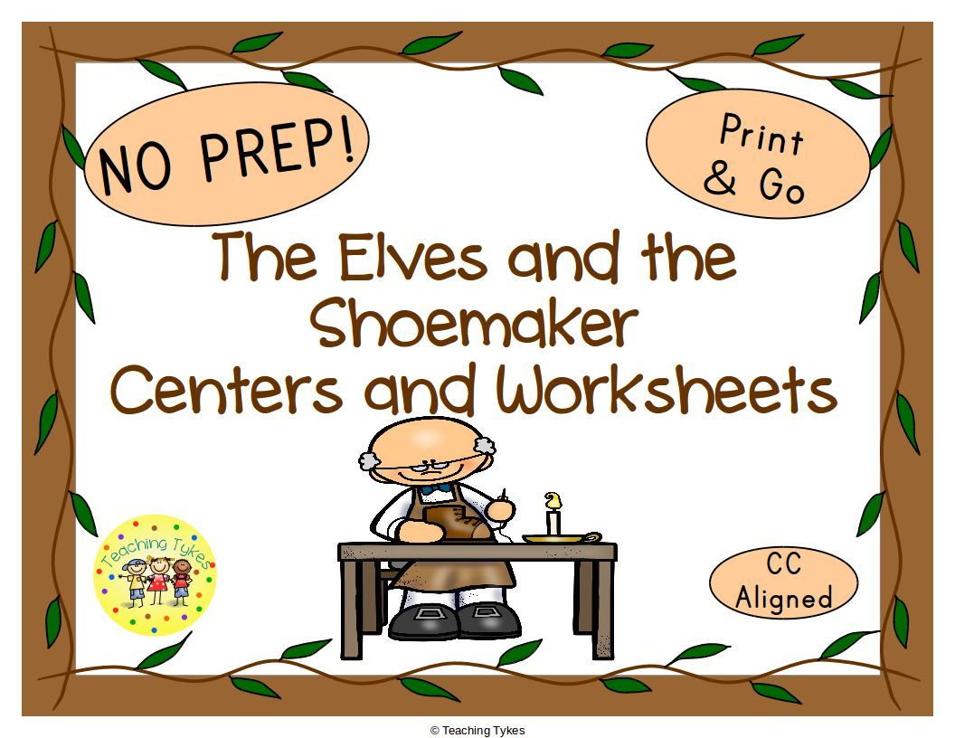 The Elves And The Shoemaker Fairy Tales Worksheets
