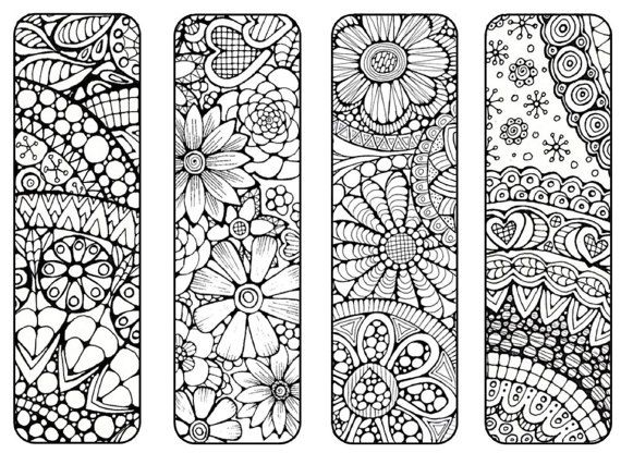 bookmarks to print and color bookmark