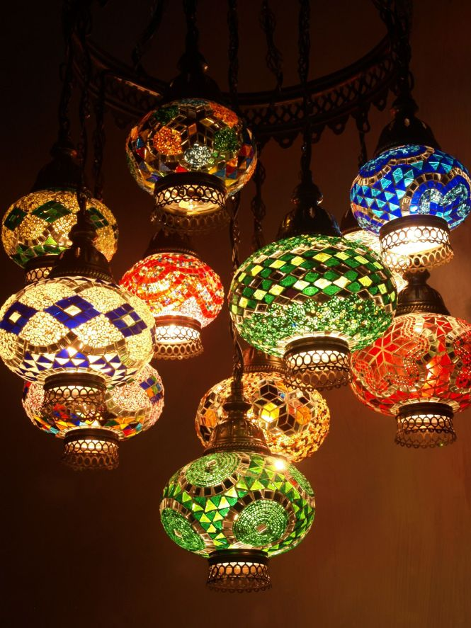 Middle East Pixies Mosaic Glass Mosaics Chandeliers Folk Chandelier Lighting Por