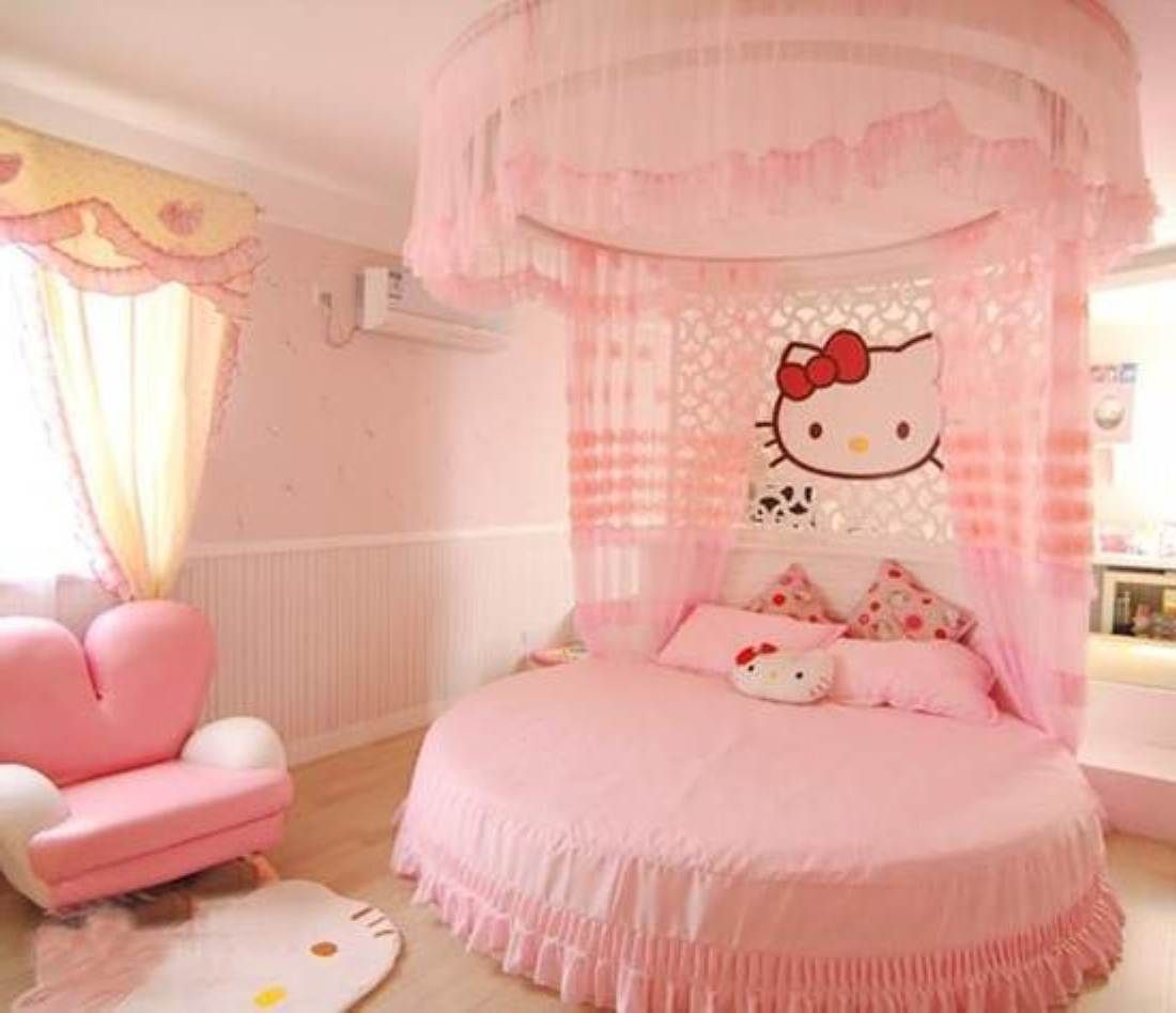 Hello Kitty Bedroom Pink Hello Kitty Girl Bedroom Design