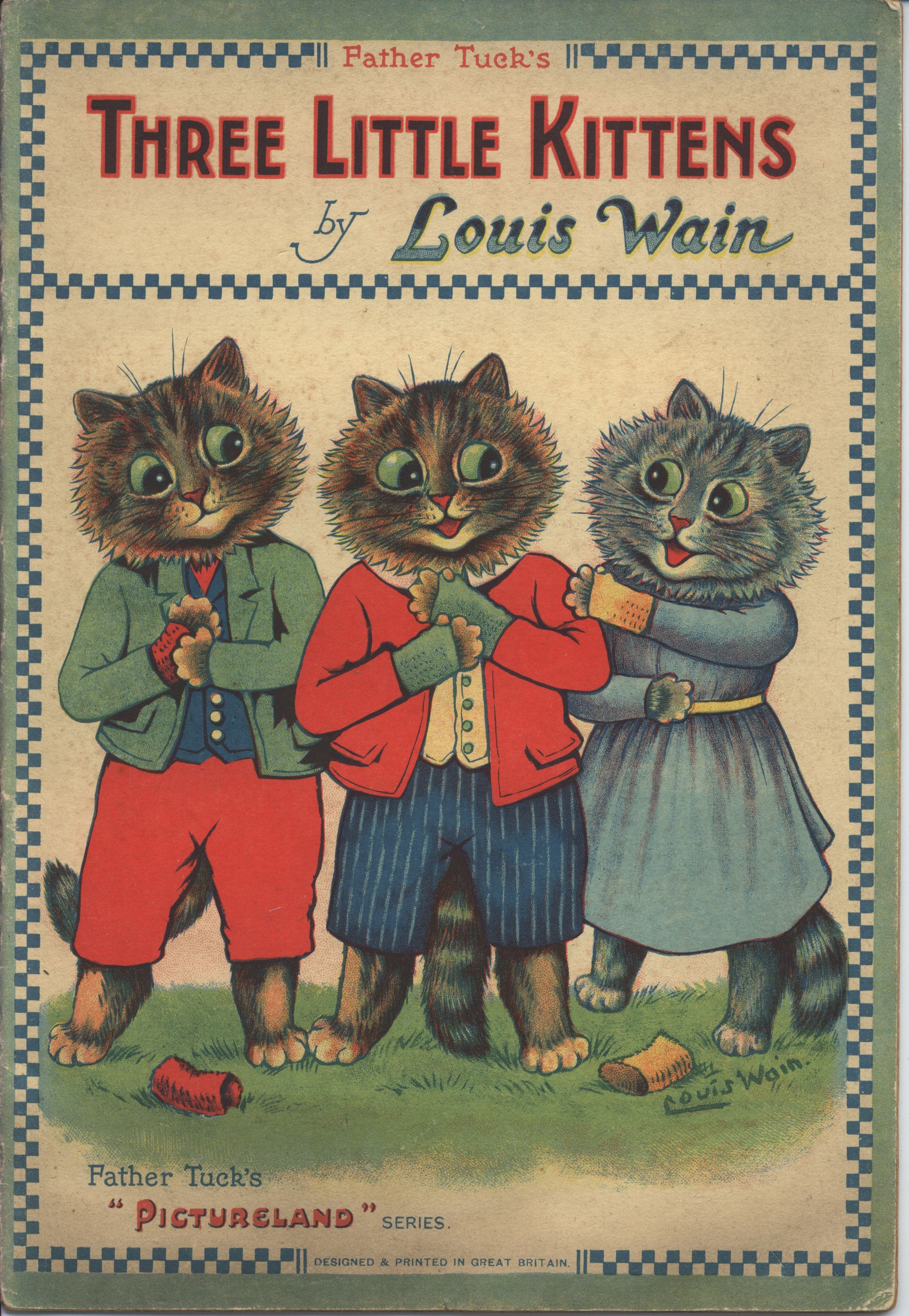 The Three Little Kittens Illustrated By Louis Wain Father Tuck S Pictureland Series