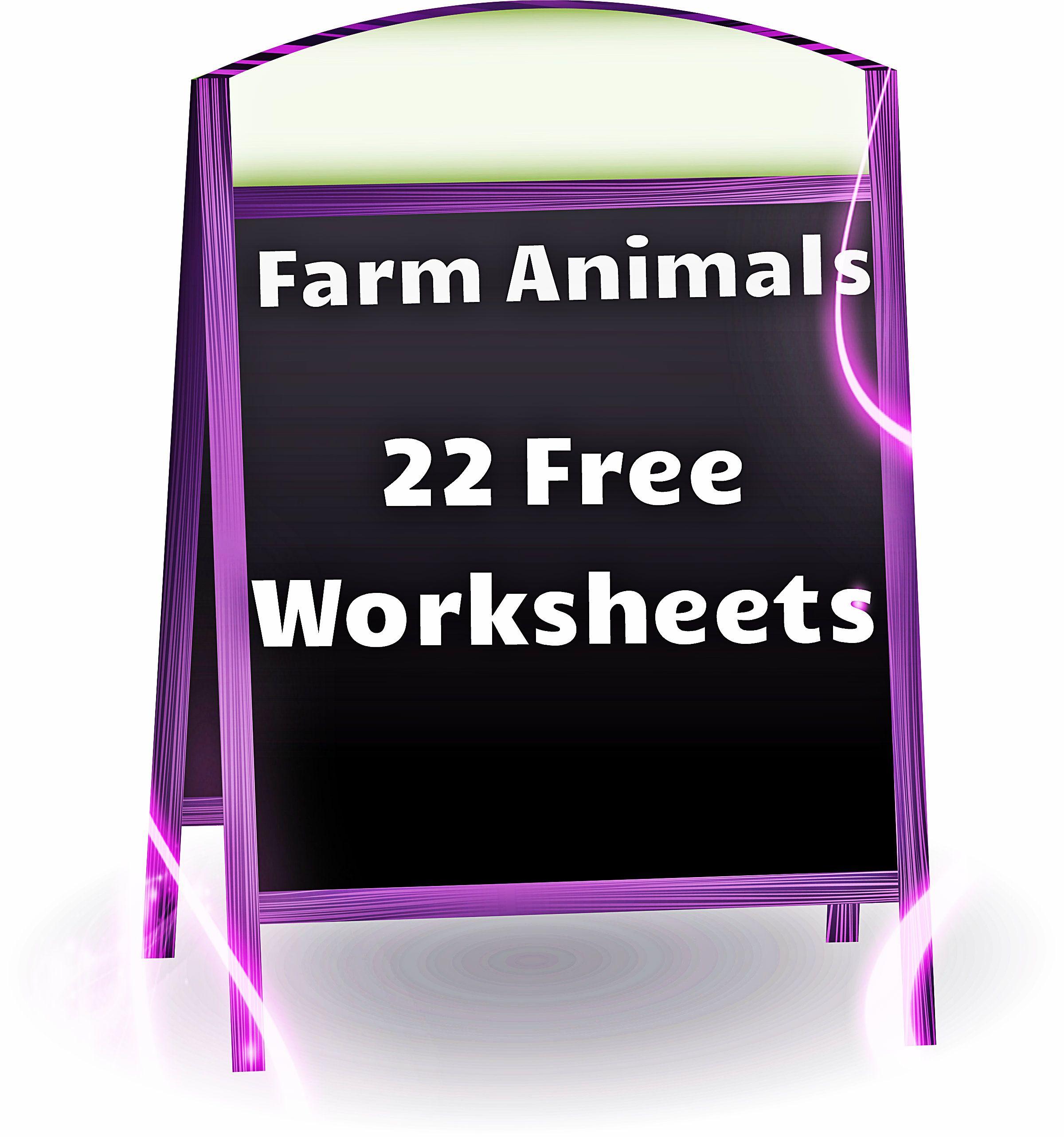 Farm Animals Free Worksheets