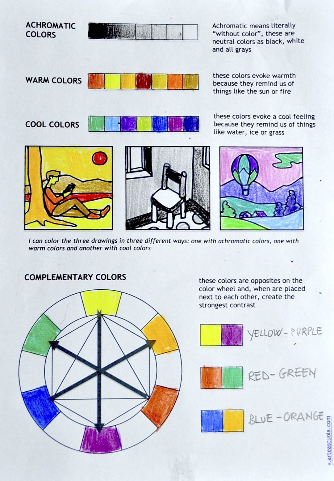 Color Theory Worksheet For Students