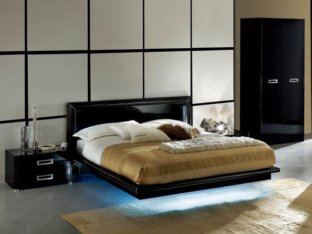 modern black lacquer bedroom furniture italian style | bedroom