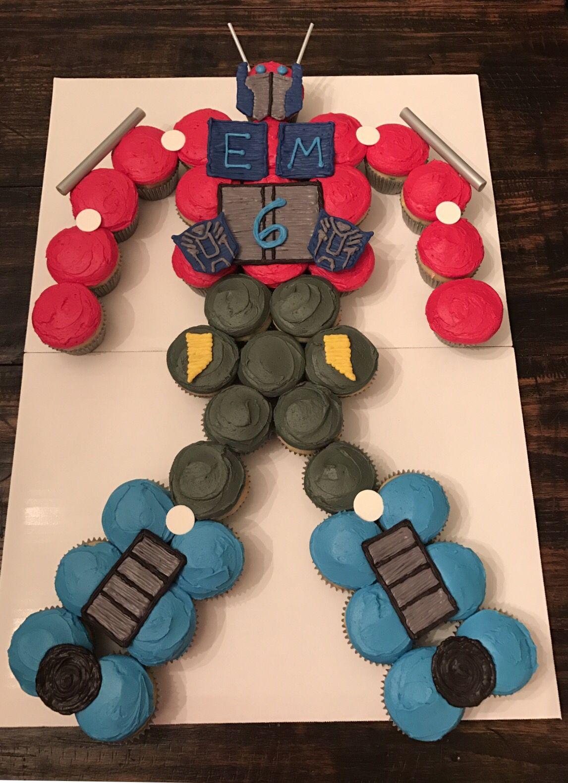 Optimus Prime Cake Transformer Cupcake Cake
