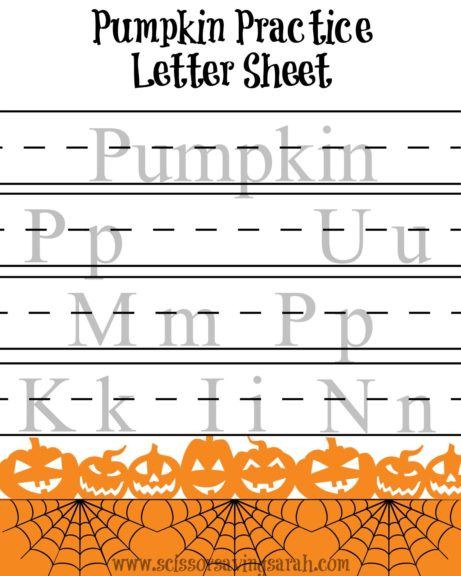 Little Ghouls And Goblins Can Practice Writing The Word Pumpkin With This Free Printable