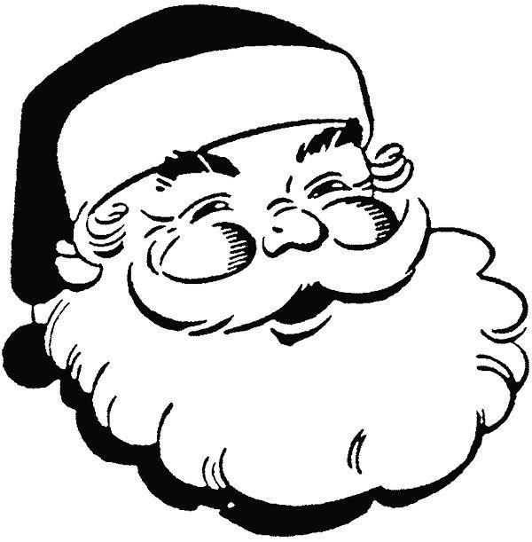 face santa claus smile coloring page  kidsycoloring