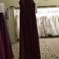 Wine colored bridesmaid boutique dress brands size and