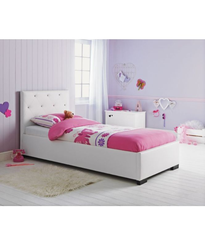 Melissa Bling White Single Bed Frame With Elliott Mattress At Argos Co Uk
