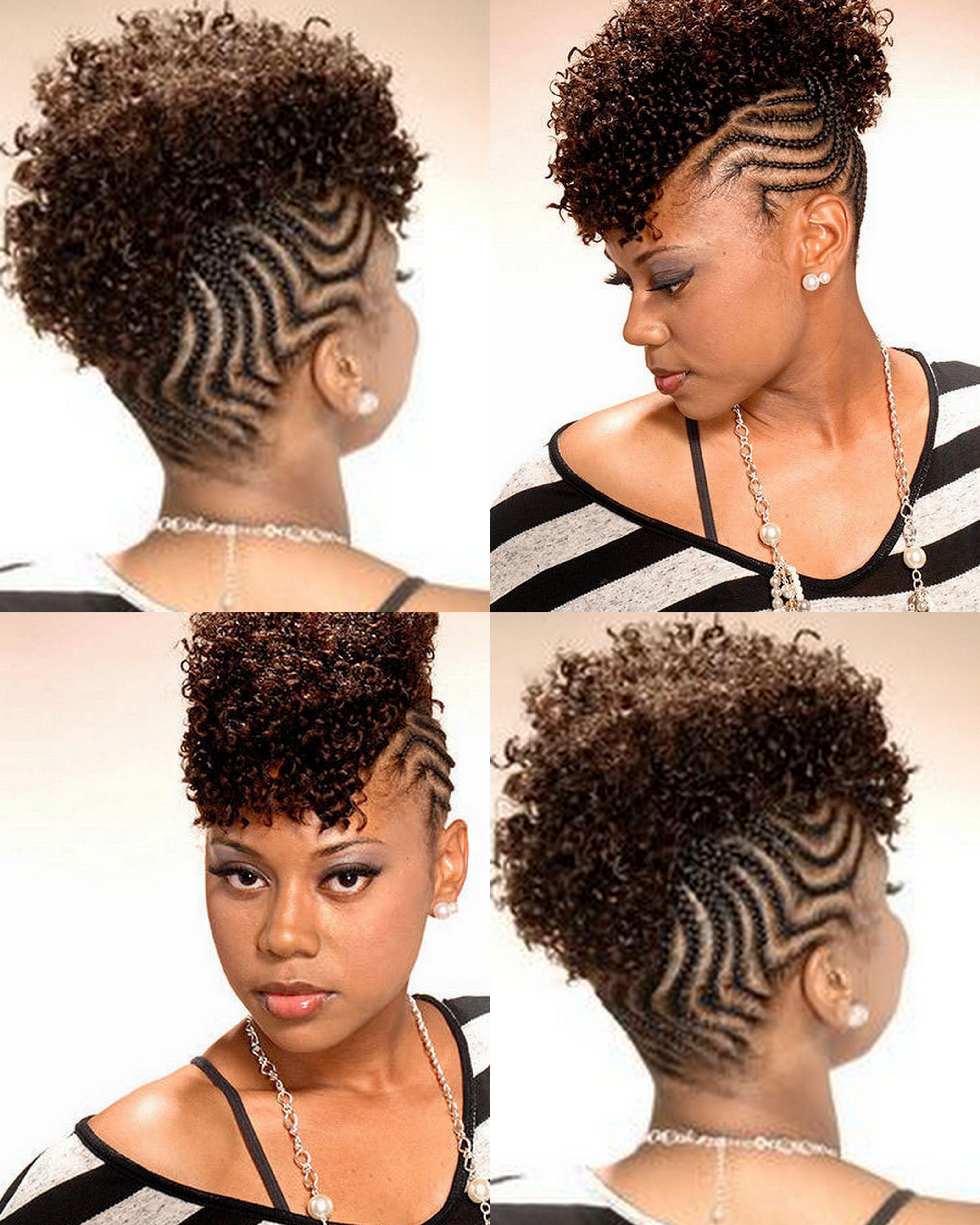 Cornrowed Mohawk Hairstyles Pinterest