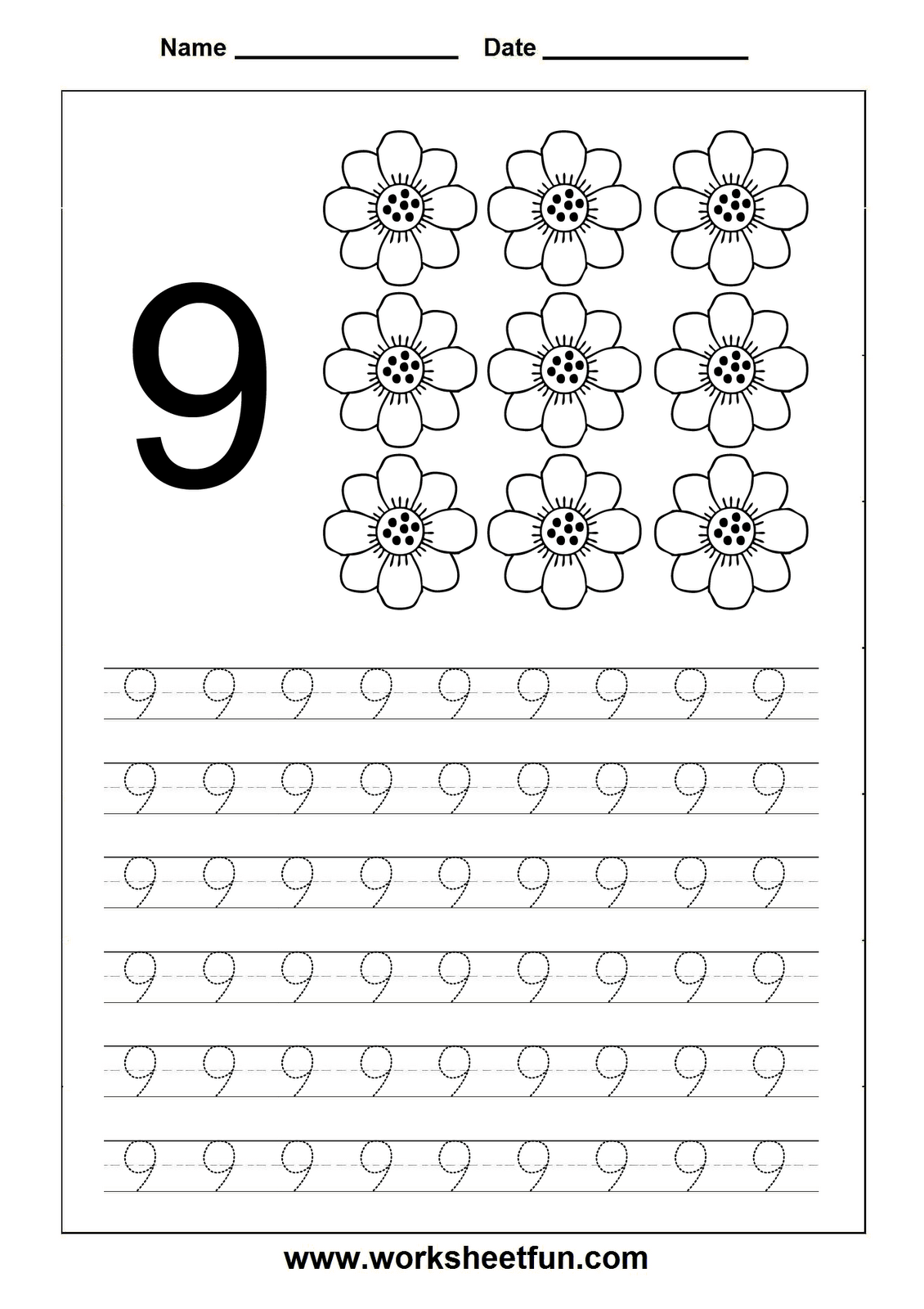 Homeschooling Number Tracing