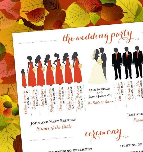 Fall Wedding Programs On Pinterest Fall Wedding