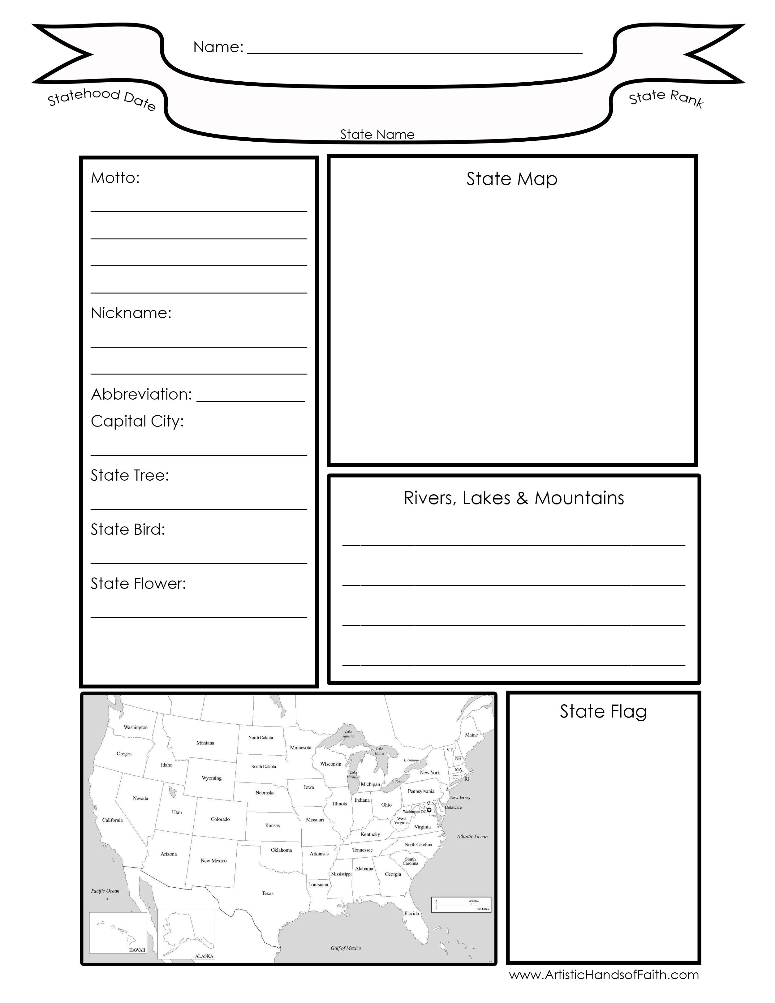 Geography Worksheet Homeschool