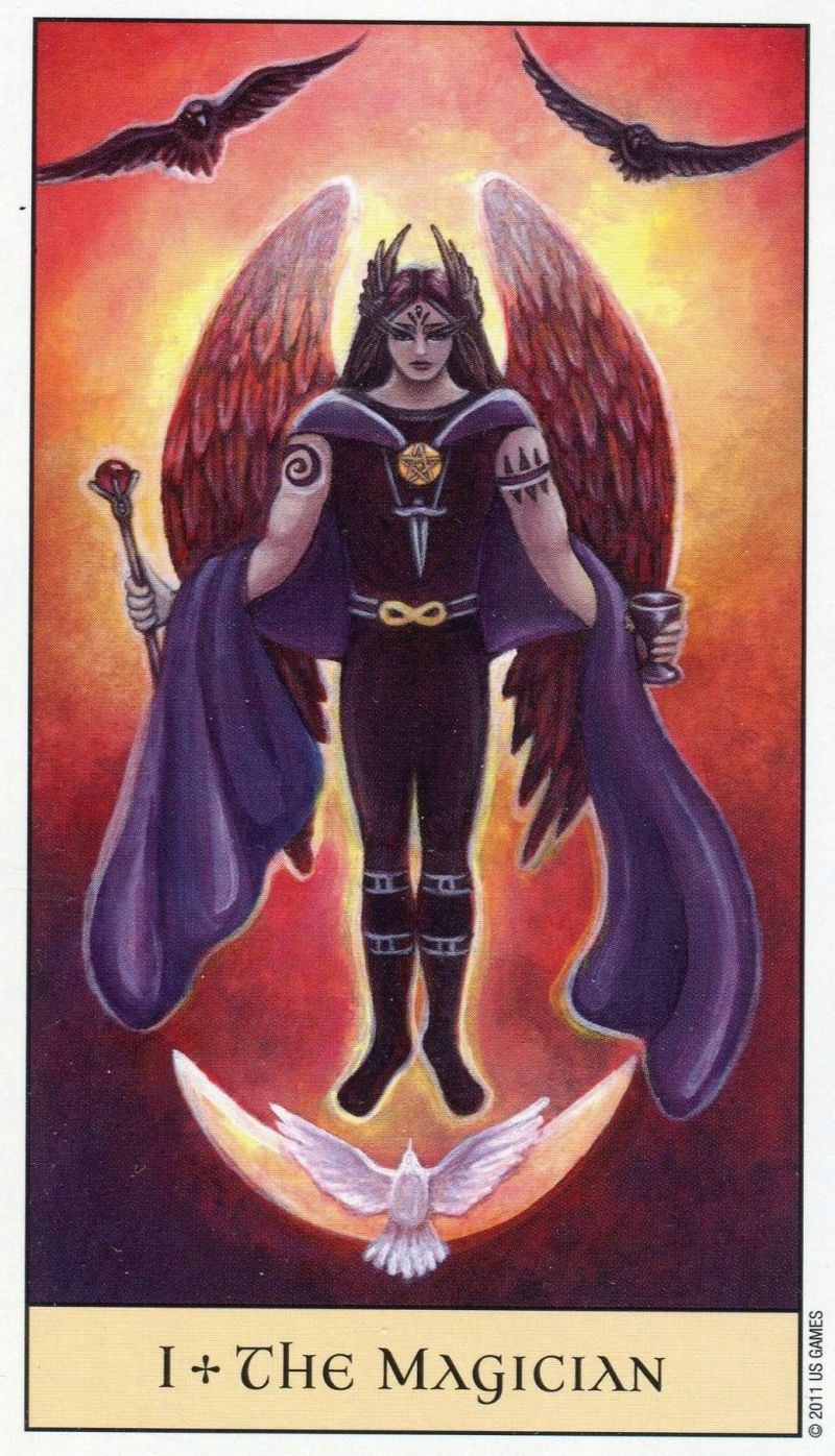Magician from the crystal visions tarot tarot magician