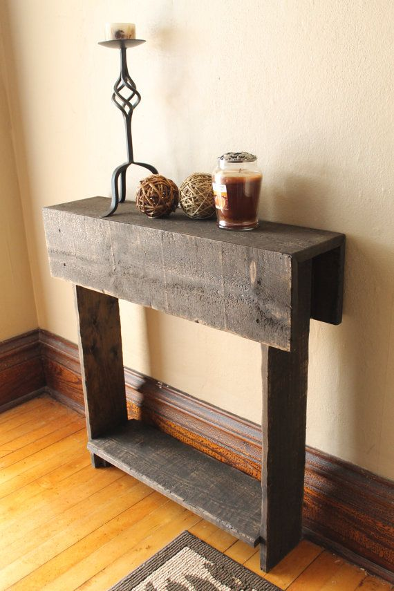 Rustic Entry Table Reclaimed Wood Table Entry Way Shoe