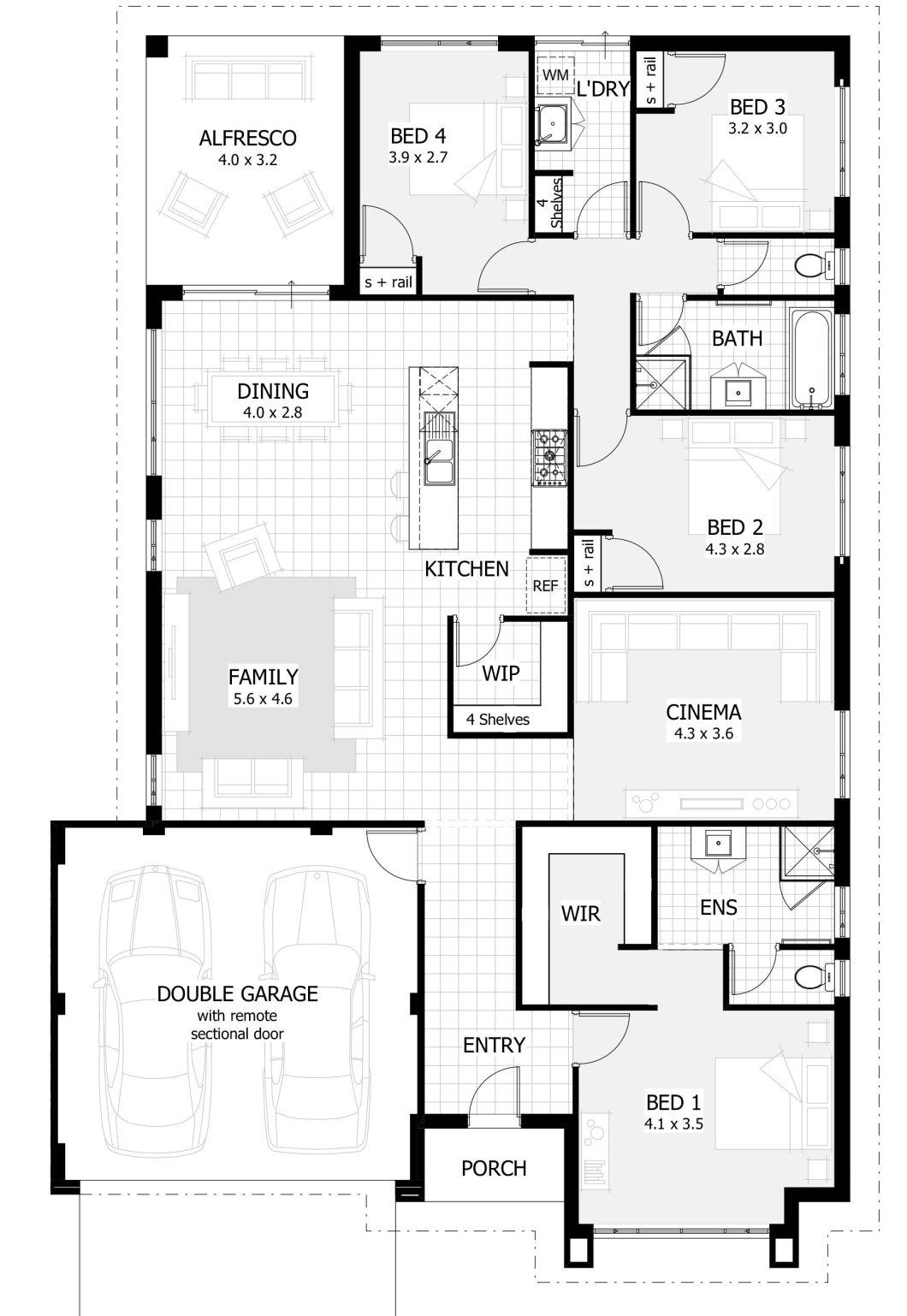 5 bedroom house plans single story australia for 5 bedroom floor plans australia