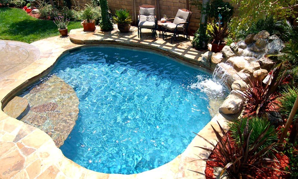 Spa Pool Spool Spool With Waterfall Home Pinterest