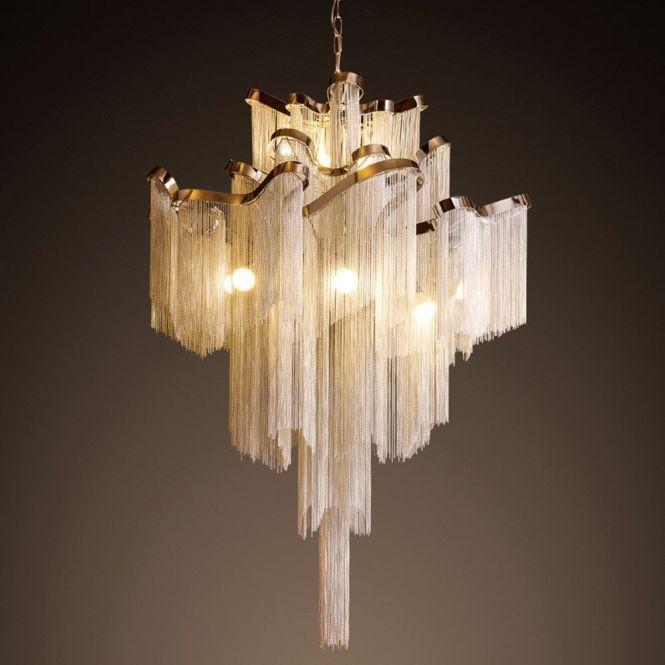 Eleganzo Collection Elegant Hotel Ceiling Chandelier