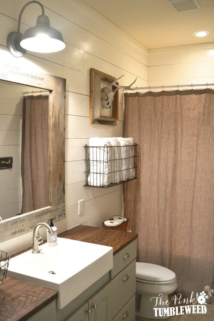 Best 25+ Rustic bathroom makeover ideas on Pinterest ... on Small Bathroom Ideas Pinterest id=11506