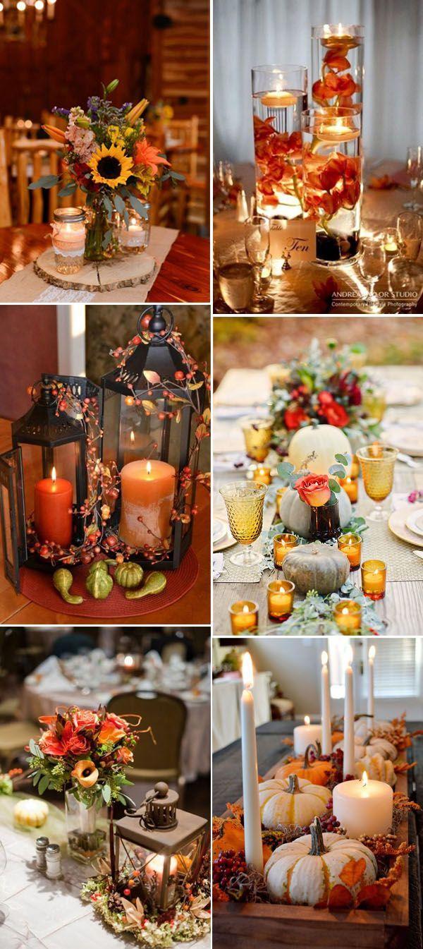 Inspirational Fall u Autumn Wedding Centerpieces Ideas