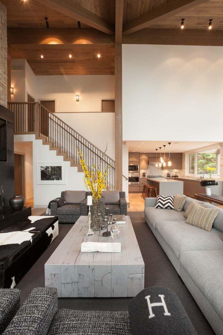 Aménagement intérieur moderne duune maison au Canada  Salons House