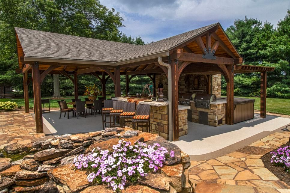 poolside pavilion with tv outdoor fireplace kitchen outdoor entertaining pavilion and tvs on outdoor kitchen tv id=93228