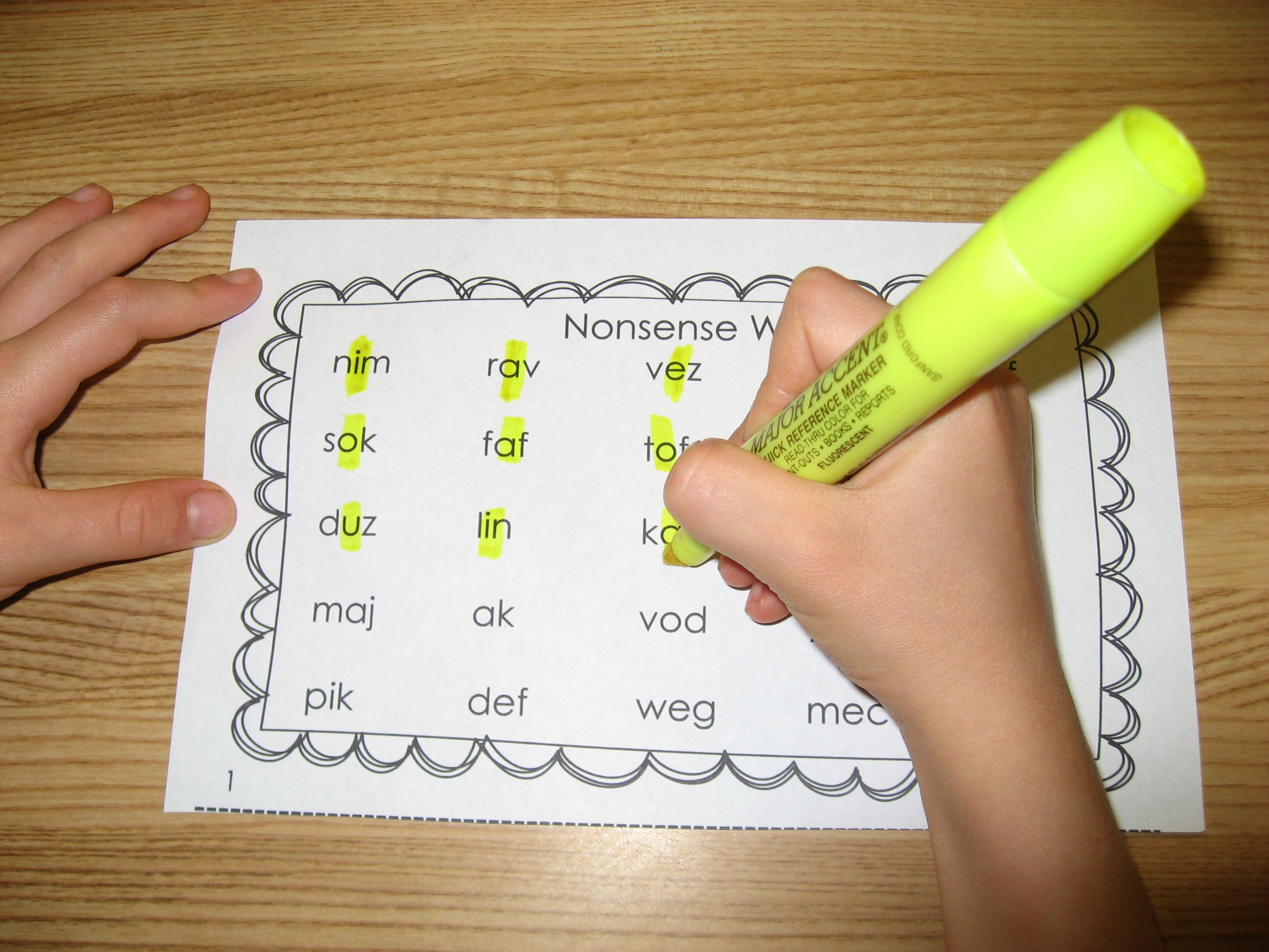 Nonsense Word Practice Sheets Great For Dibels Amp Aimsweb