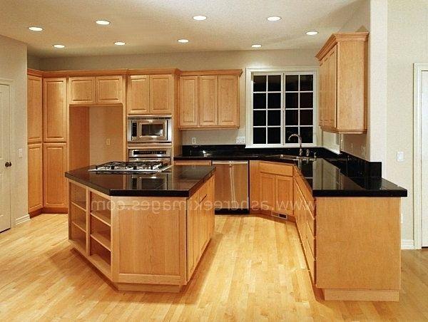 dark granite countertops on maple cabinets | Black Granite ... on Maple Kitchen Cabinets With Dark Wood Floors Dark Countertops  id=66133