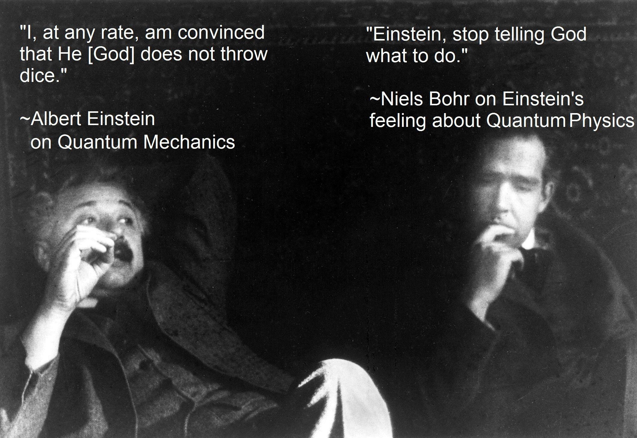 Niels Bohr Vs Albert Einstein