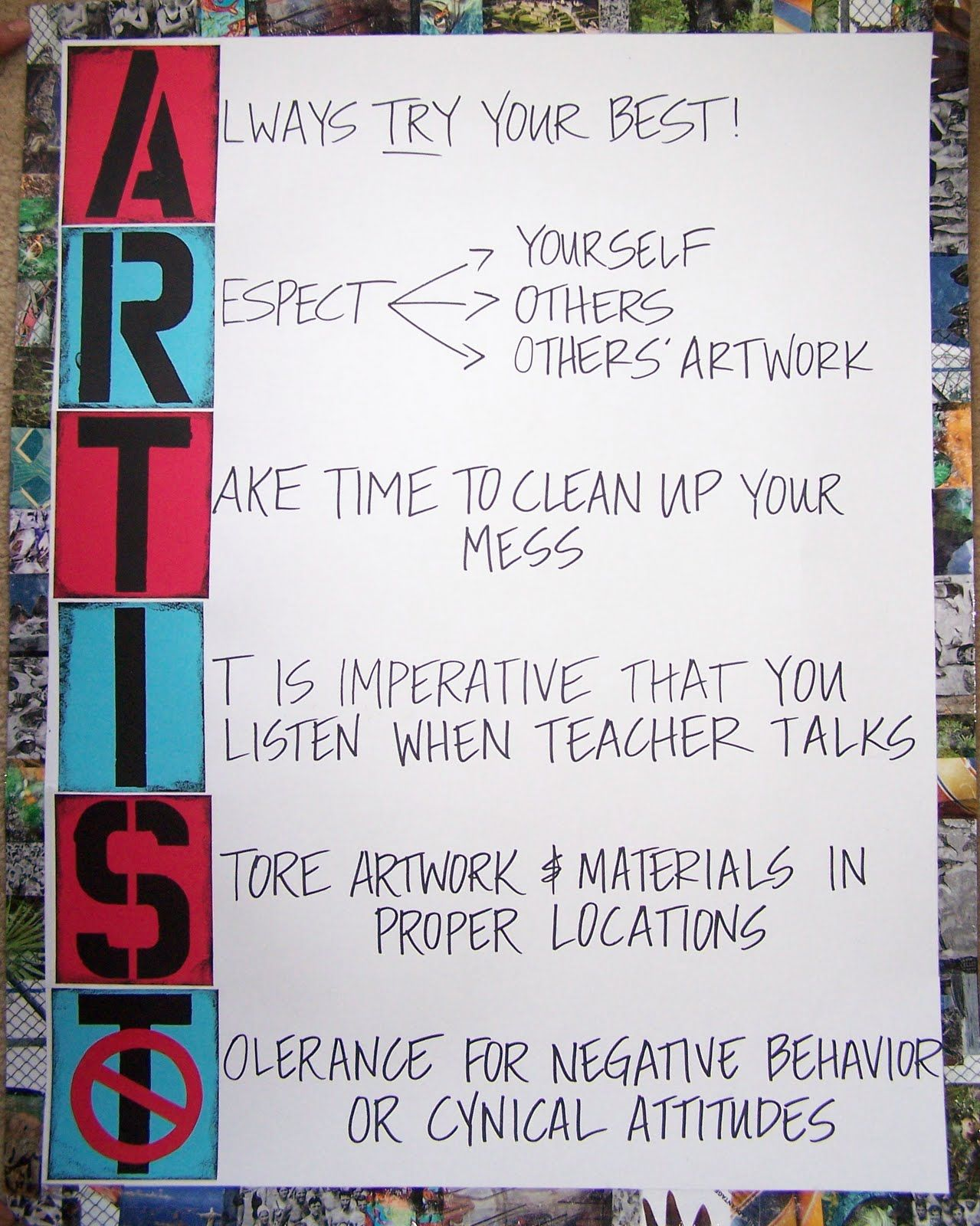 Abstract Element Rules For The Classroom