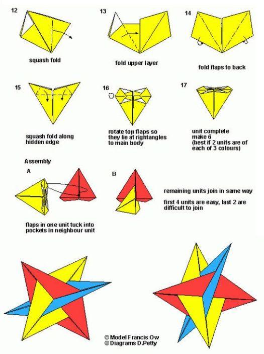 Geometric Origami Instructions Pdf Tutorial Lets Make It