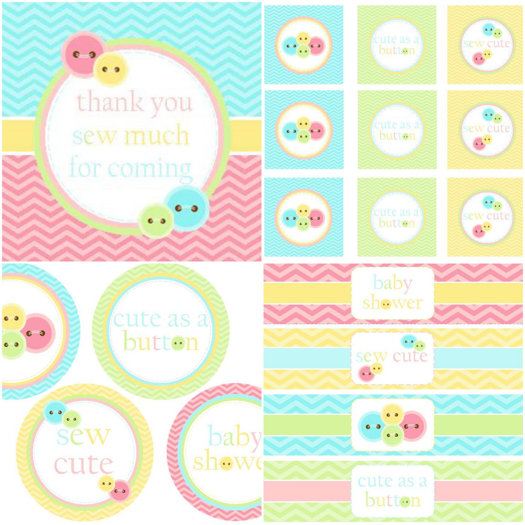 We Heart Parties 10 Simple Cute As A Button Party Ideas