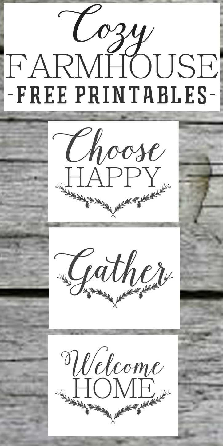 farmhouse free printable set gather choose joy welcome home choose joy free printable and free on farmhouse kitchen quotes free printable id=59816