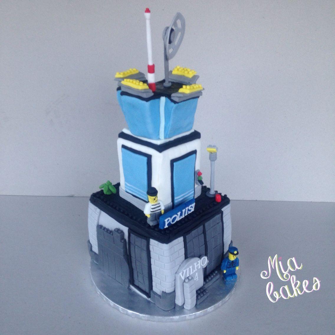 Lego City Police Prison Island Cake By Mia Bakes