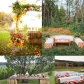 Outdoor garden wedding decoration ideas  What about a beverage table like the one with the hay bales then