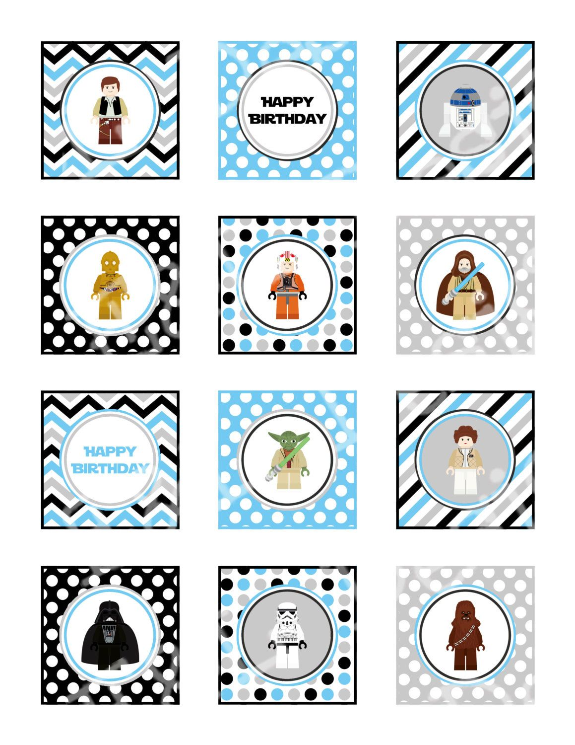Lego Star Wars Free Printable Labels