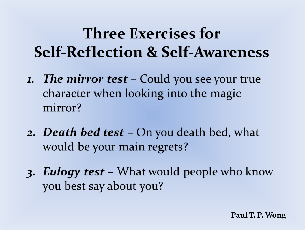 Exercises For Self Reflection And Self Awareness