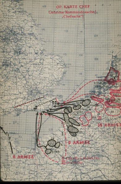 A Map Detailing Operation Sealion The Proposed Invasion