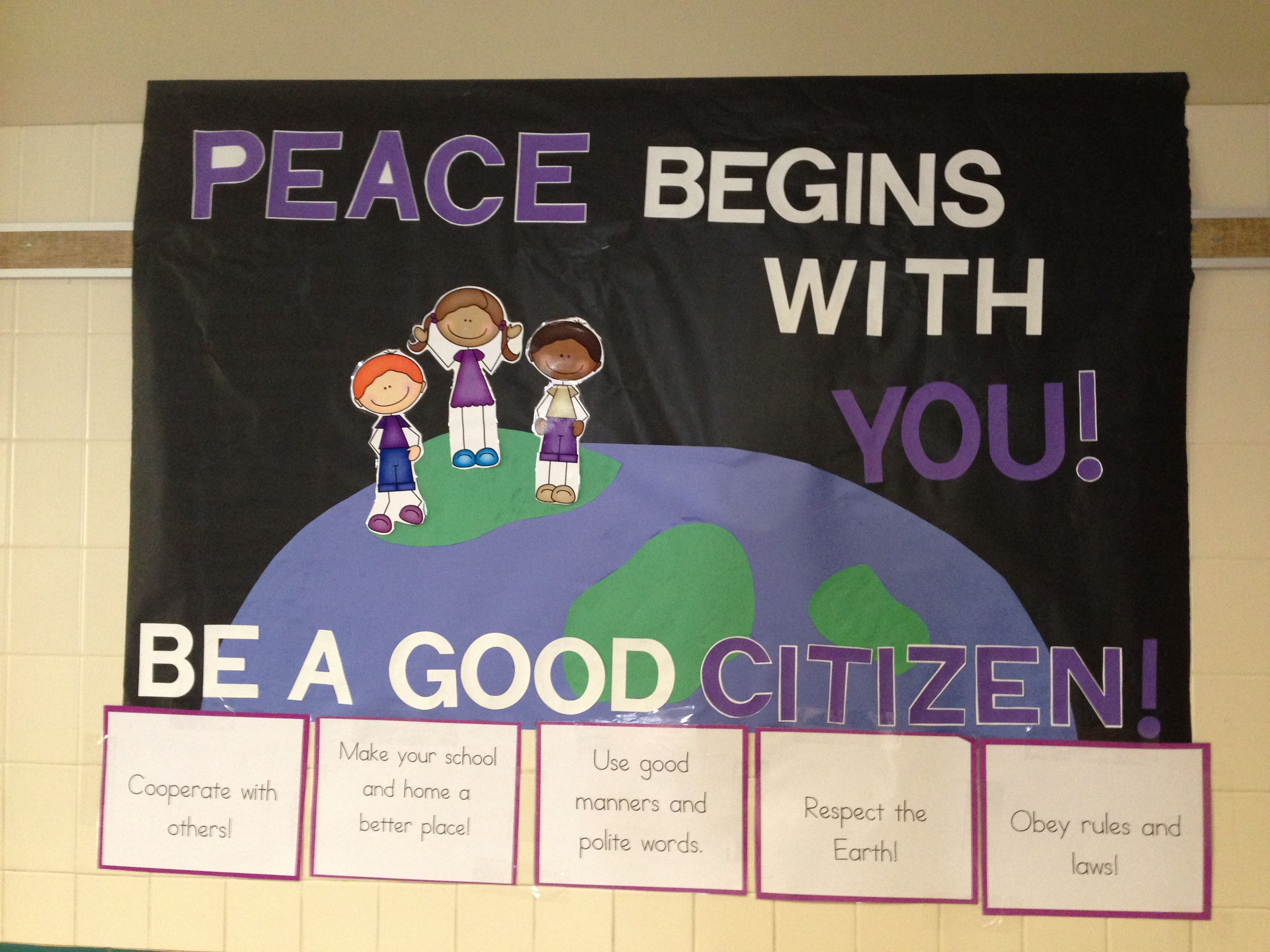Citizenship Bulletin Board Goes With Our Citizenship